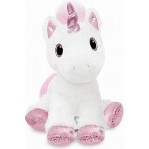 "12"" Princess Sparkle Tail White Unicorn Horse Soft Plush Toy"