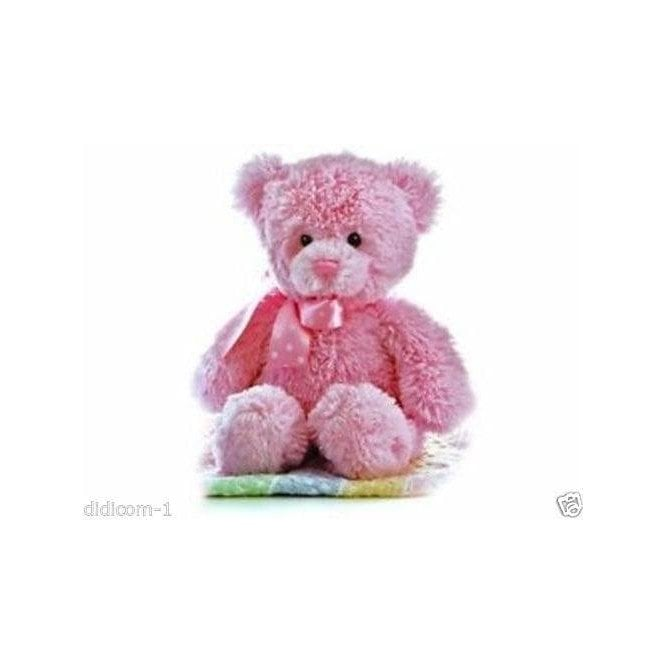 "Aurora 12"" Yummy Pink Cuddly Teddy Bear"