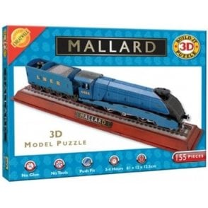 Cheatwell Mallard Locomotive Train 3D Model Jigsaw Puzzle - 155 pieces