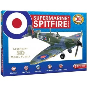 Supermarine Spitfire Mark-IX  3D Puzzle - Build it, Push Fit, Giant Model 440mm