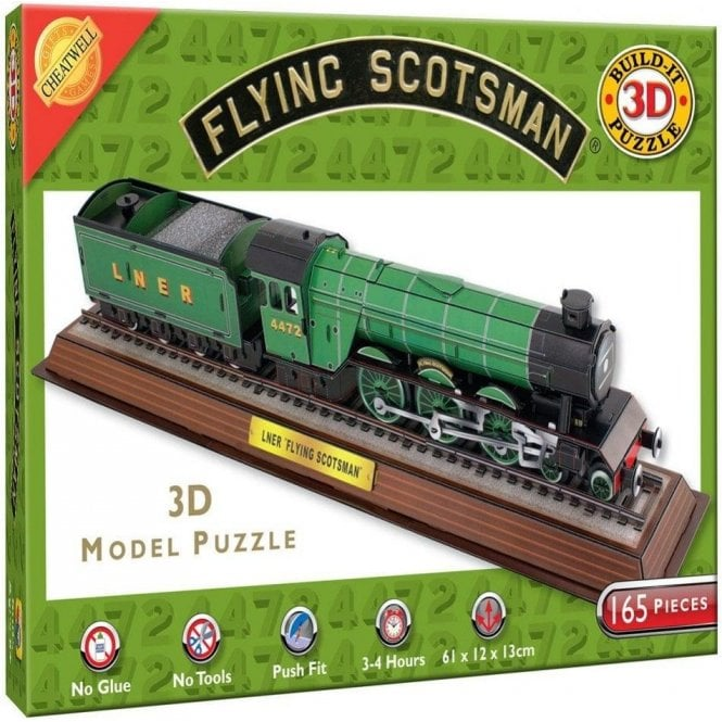 Cheatwell The Flying Scotsman Train 3D Model Jigsaw Puzzle -165 pieces
