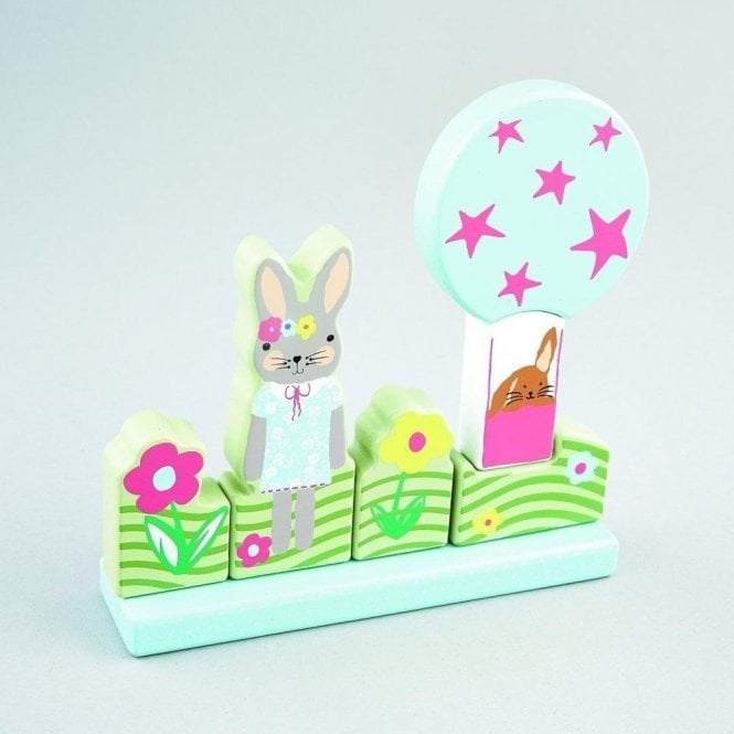 Floss & Rock Bunny Rabbit Wooden Magnetic Puzzle