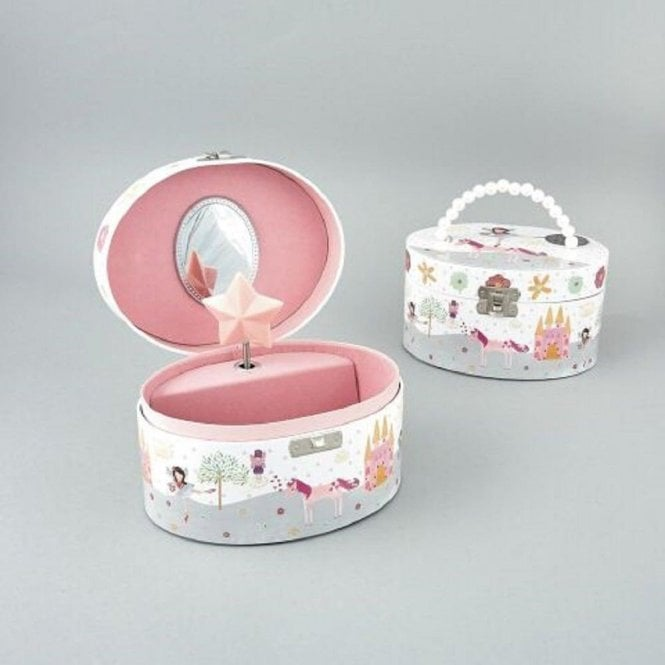 Floss & Rock Fairy and Unicorn Jewellery Box with Beaded Handle and Fairy Shimmer