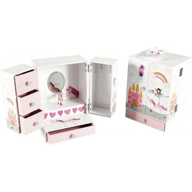 Floss & Rock Fairy Unicorn Wardrobe Style Jewellery Box by Floss and Rock