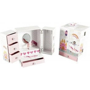 Fairy Unicorn Wardrobe Style Jewellery Box by Floss and Rock