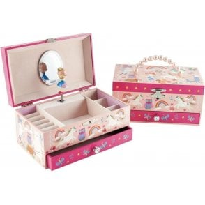 Floss and Rock Rainbow Woodland Musical Jewellery Box