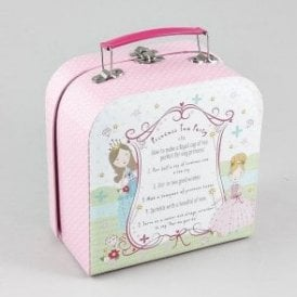 Princess fairytale 7 piece tea set in attache case