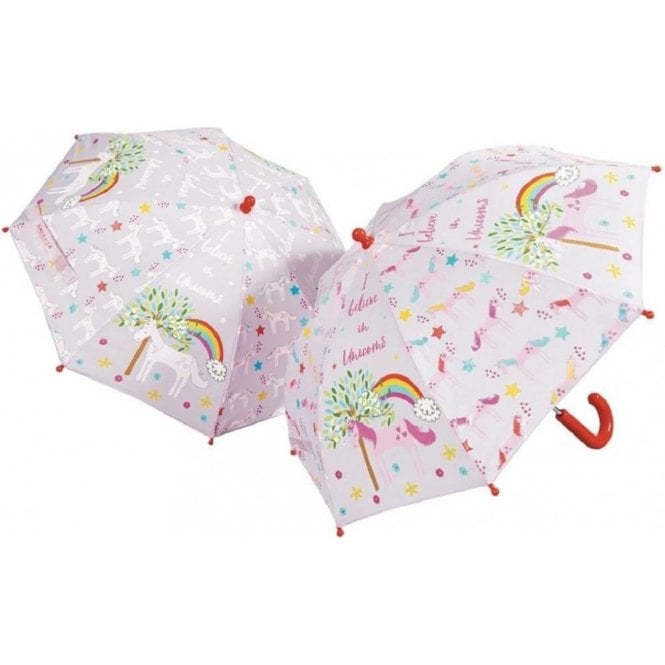 Floss & Rock Unicorn Colour Changing Umbrella - pre order arriving December 10th