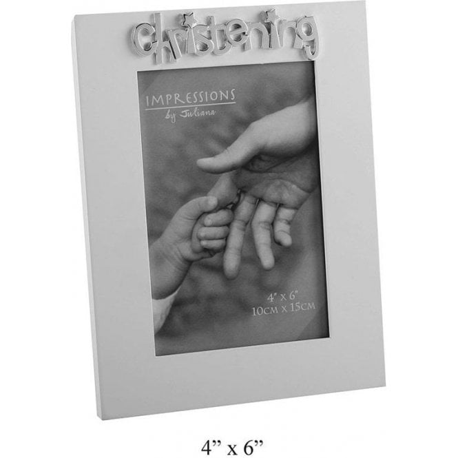 "Impressions by Juliana ""Christening"" Photo frame 4"" x 6"" 10cm x 15cm"