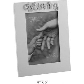 """Christening"" Photo frame 4"" x 6"" 10cm x 15cm"