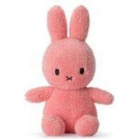 "Miffy Terry Towling soft toy 9"" Nijntje in Pink"