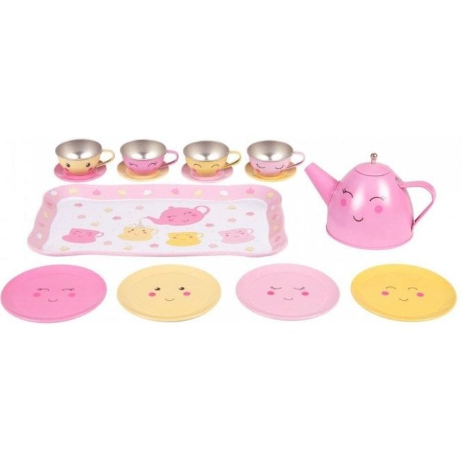 Sass & Belle Happy Picnic Box Tea Set Pink and Yellow