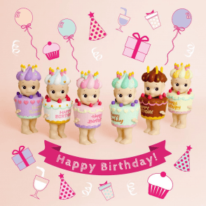 Birthday Gift Series  6 x Birthday Cake styled Mini Figure Dolls
