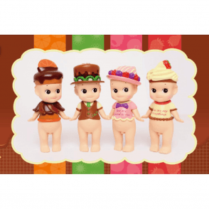 Chocolate/Valentine Series Limited Edition Mini Figurine 4 Pc Set 2016