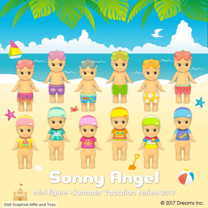 Sonny Angel Summer Vacation 2017 Series Mini Figure 6 piece set Limited Edition