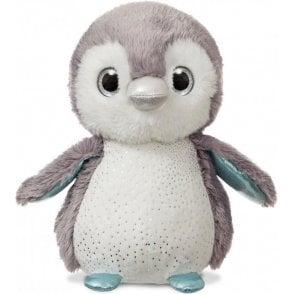 Sparkle Tales Lumi Grey Penguin 12in Plush Toy by Aurora