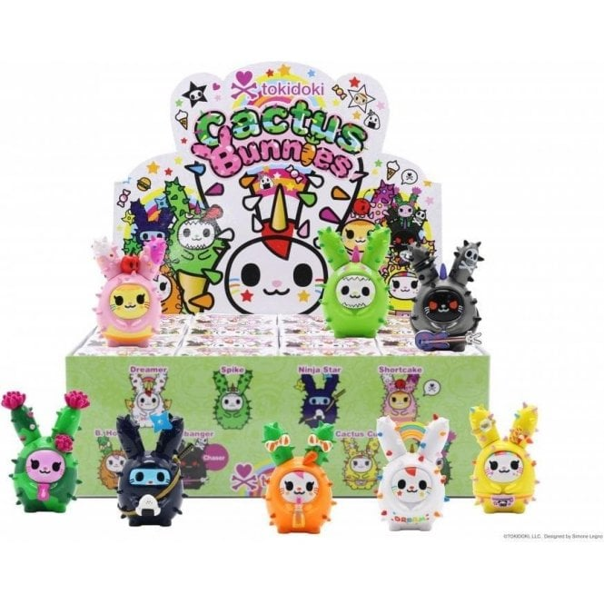 Tokidoki Cactus Bunnies 1 x Blind boxes - Collectable Art Toys Mini Figures Age 8+