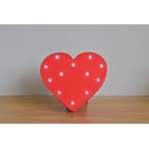 Up In Lights LED Red Heart